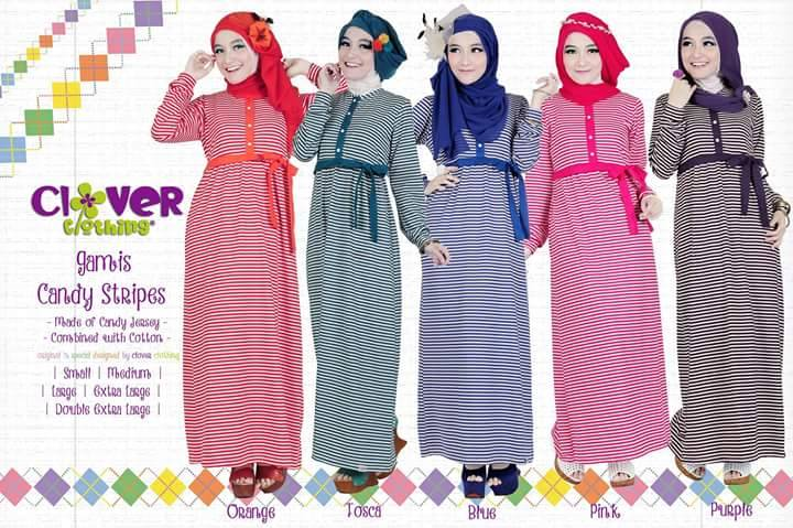 Gamis Candy Stripes